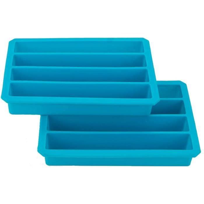 Webake Bac à Glaçons en Silicone pour Bouteille d'eau Lot de 2 Moules à Glaçons Stick pour Soda ou Les Sports Bouteille, 4 Cavit169