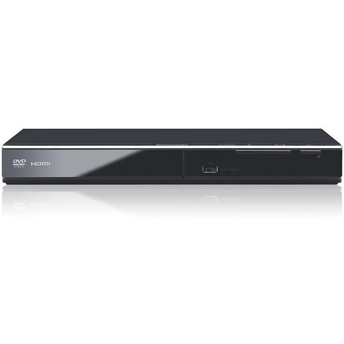 Panasonic Lecteur DVD HD DVD-S700EG-K Conversion Full HD, Compatible Xvid, Lecture Mutli Formats, Port USB, Etanche à la Poussière,
