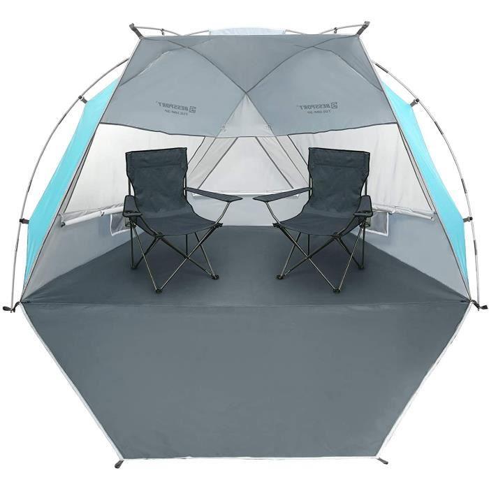 Bessport Tente de Plage pour 1~2 Personnes,3~4 Personnes, abri de Plage, Petit Pack, Ultra-leacuteger avec Base Extensible, Protect