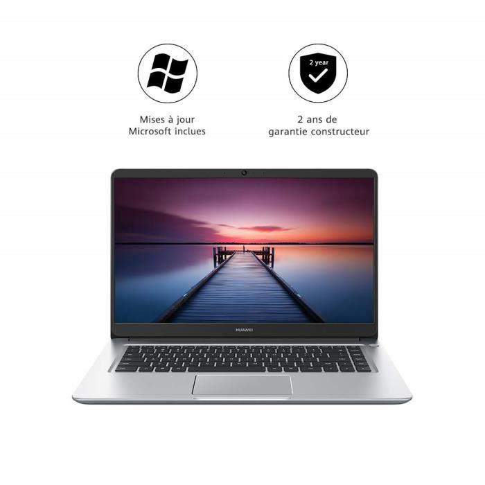 HUAWEI MateBook D 15.6- - PC Portable - 15.6 Pouces (Core i5, RAM 8Go, SSD 256Go, Windows 10 Home) - Argent