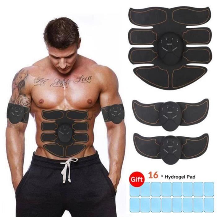 Electrostimulateur Musculaire EMS Ceinture Abdominale USB Stimulateur Musculaire pour Abdominale-Bras-Fesses-Dos -Jaune A627