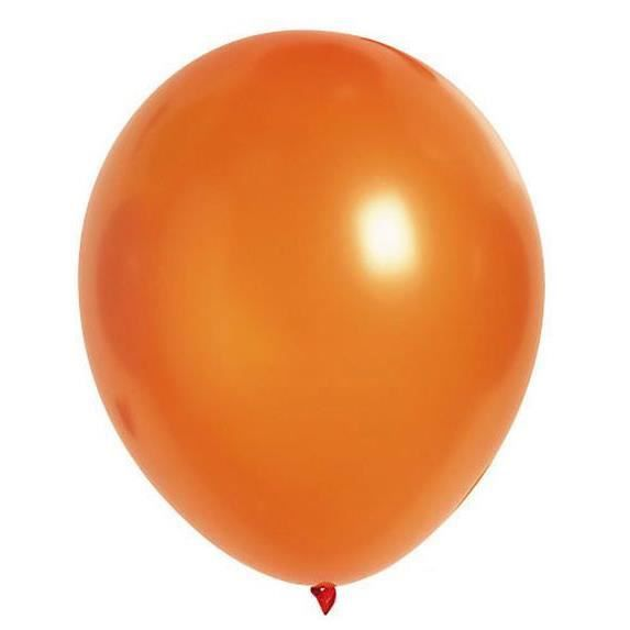 Lot de 100 ballons en latex opaque orange