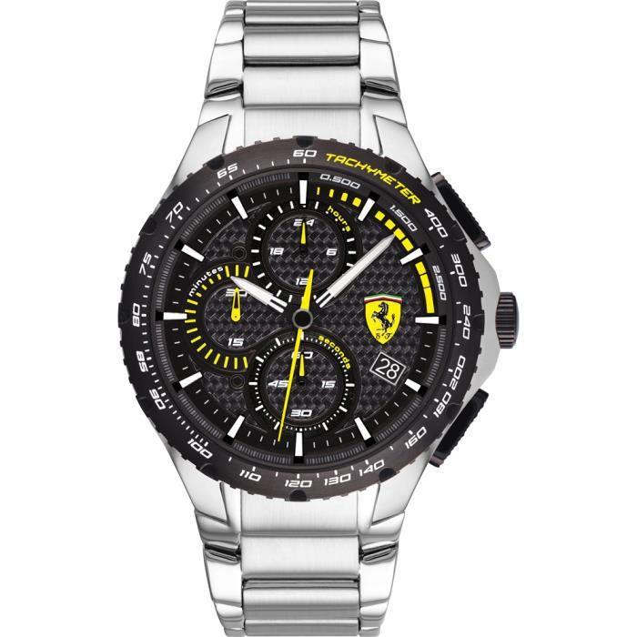Ferrari-Montre Chronographe pour Homme à movement Quartz en Acier inoxydable - 0830729