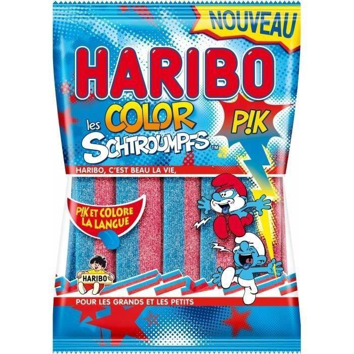 HARIBO Bonbons fantaisies acidifiés Color Pik Les Schtroumpfs - 180 g