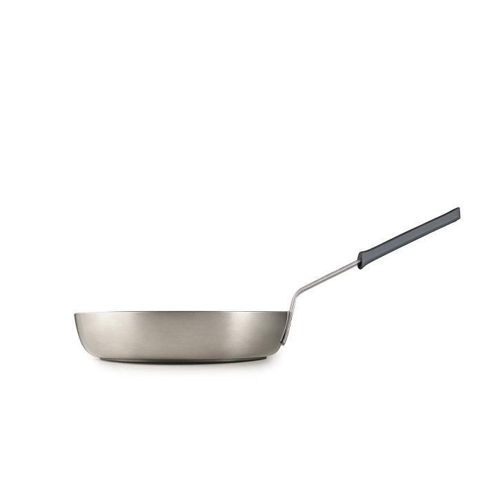 IBILI 490028 Poele Titanio Chef Aluminium, Gris, 28 x 28 x 54 cm