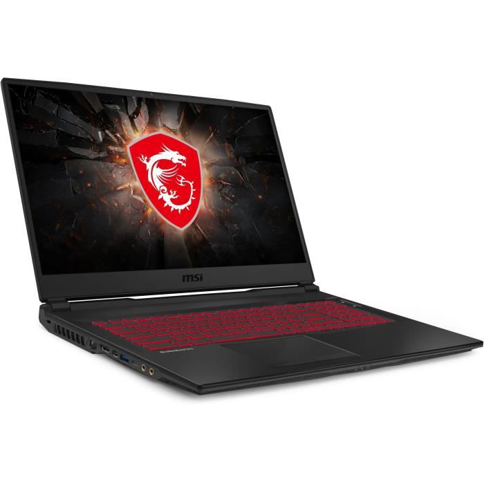 Pc portable gamer msi gl75 9se 078xfr 173 fhd i7 9750h ram 16go stockage 1to hdd 256go ssd rtx 2060 6go