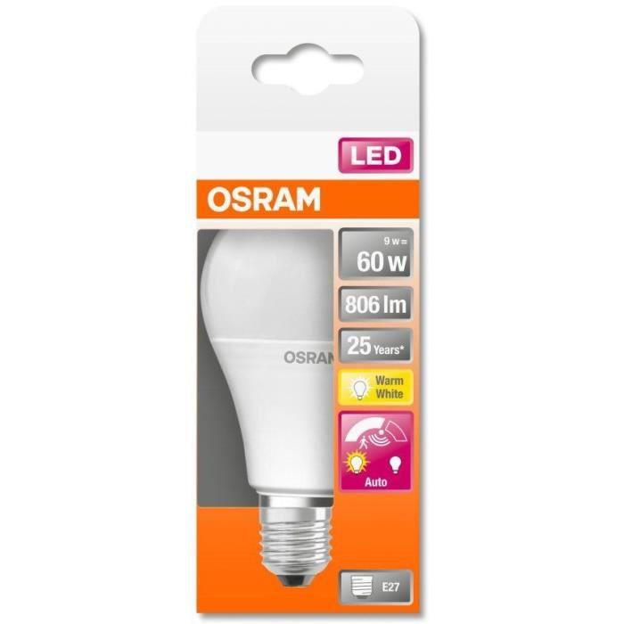 OSRAM Ampoule STAR+ LED Standard Motion Sensor - 9W équivalent 60W E27