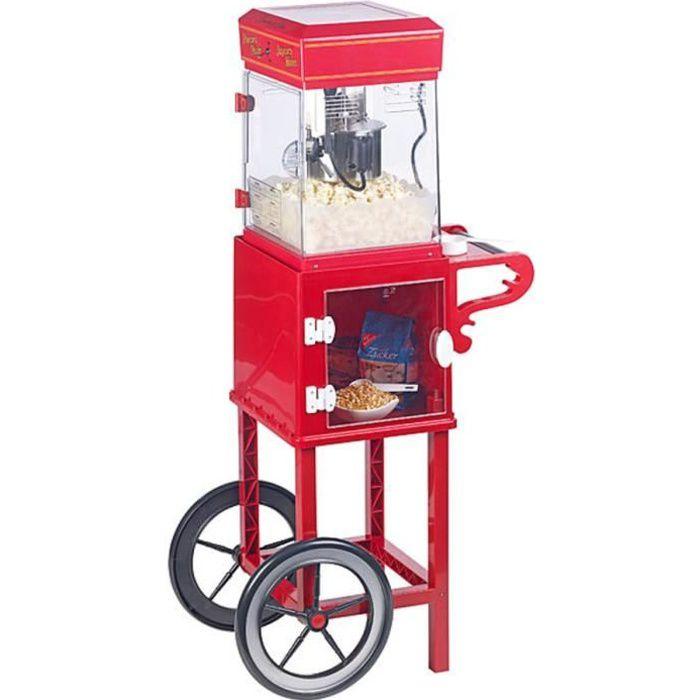 Machine à pop-corn -Cinéma- - Avec chariot rétro