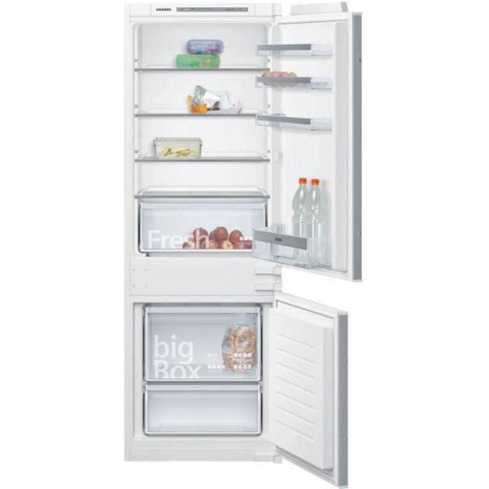 SIEMENS KI77VVSF0 Réfrigérateur combiné intégrable - 232L (169+63) - IQ300 - 158x54cm - Blanc