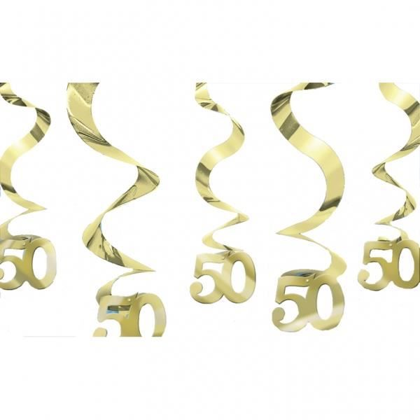 D corations suspendre 50 ans or achat vente for Decoration 50 ans