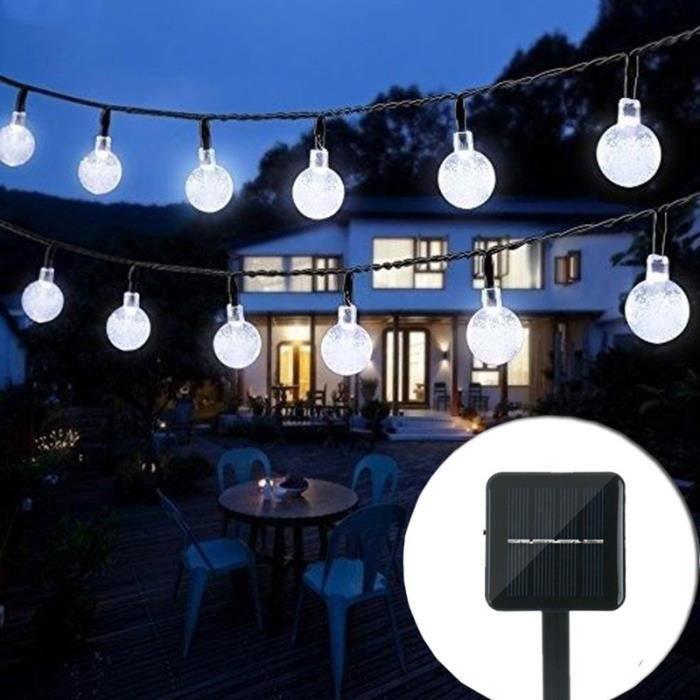 jardin jardin jardin jardin d/écoration de cl/ôture jardin blanc chaud Ooklee Guirlande solaire solaire dext/érieur 10 m 100 LED 8 modes /Éclairage en fil de cuivre /étanche pour porte de patio