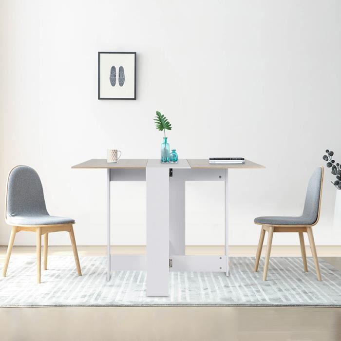 TABLE DE CUISINE  MISS Table de Salle de Manger Table Pilable de 4 P