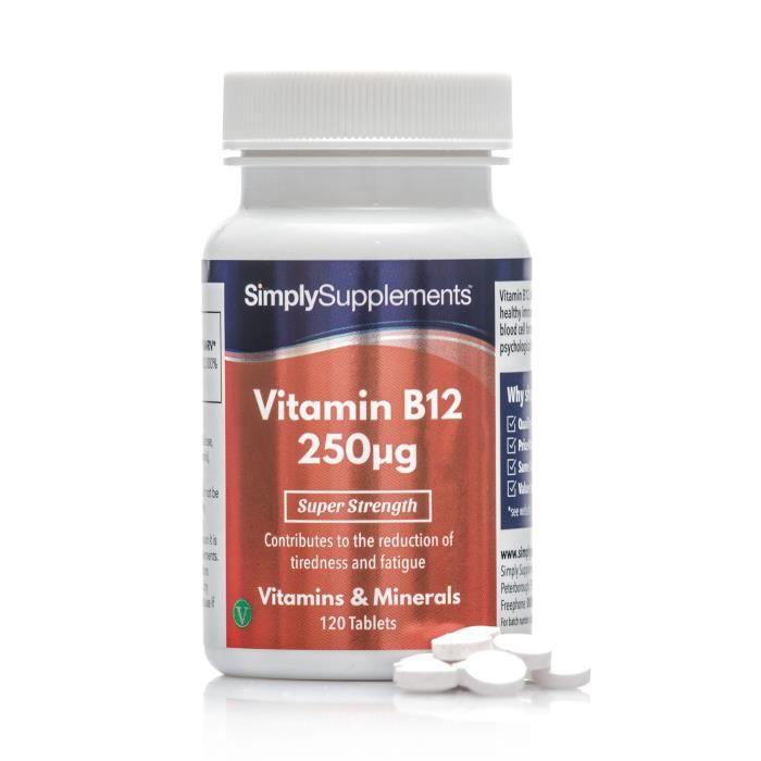 TONUS INTELLECTUEL Vitamine B12 250mcg | 120 comprimés