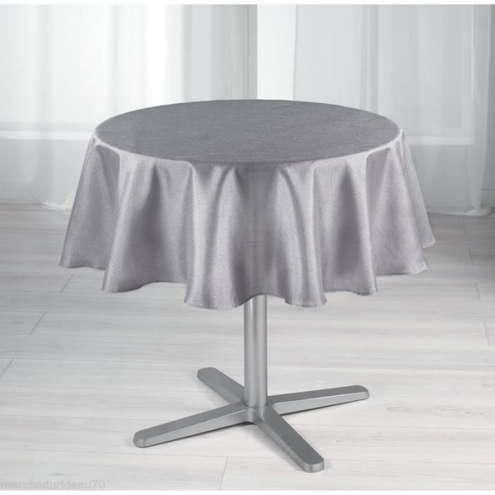 nappe ronde antitache diam 180 scintille gris achat vente nappe de table cdiscount. Black Bedroom Furniture Sets. Home Design Ideas