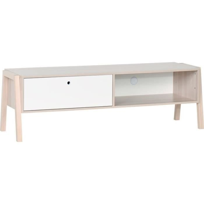 banc tv design falsterbo atylia couleur blanc achat vente meuble tv banc. Black Bedroom Furniture Sets. Home Design Ideas