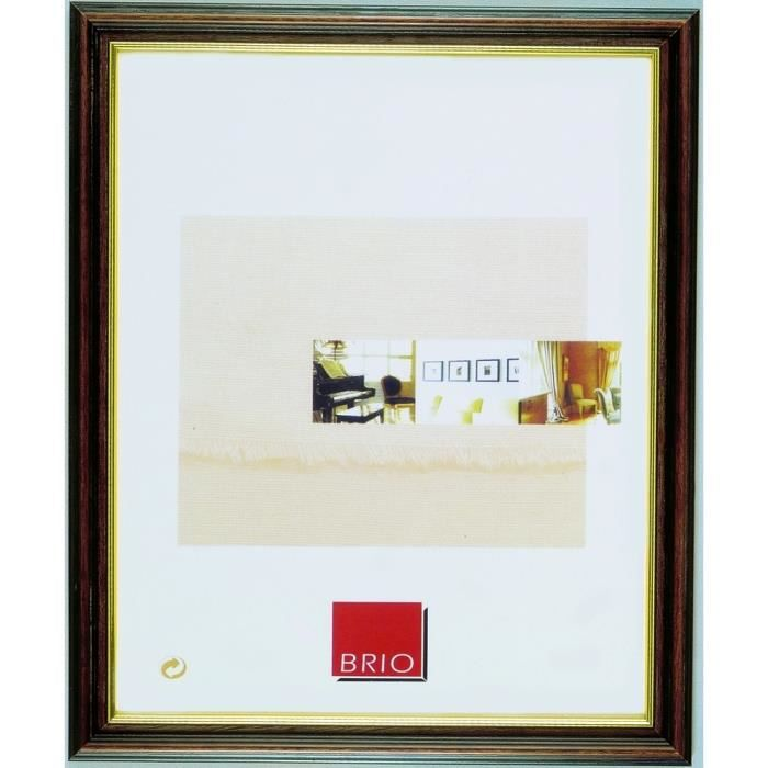 brio cadre photo club marron 50x70 cm achat vente. Black Bedroom Furniture Sets. Home Design Ideas