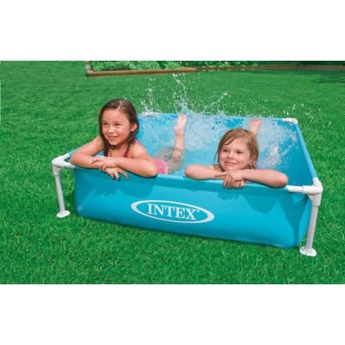 Piscinette tubulaire carree de marque intex bleue achat for Piscine carree intex