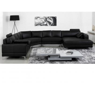 canap panoramique 7 places cuir sup rieur donatel achat vente canap sofa divan. Black Bedroom Furniture Sets. Home Design Ideas