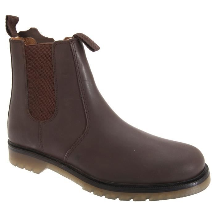 BOTTINE Grafters - Bottines Chelsea en cuir - Homme