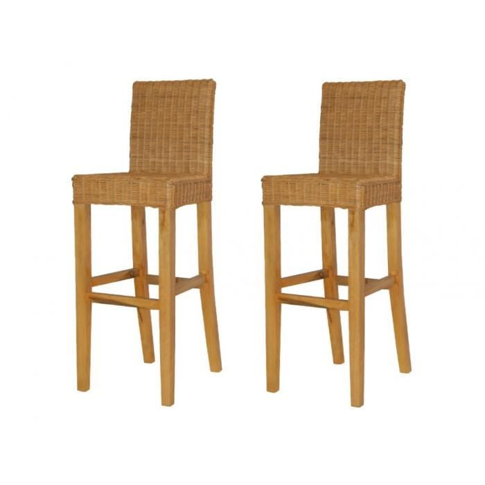 lot de 2 tabourets de bar djerba rotin tress coloris. Black Bedroom Furniture Sets. Home Design Ideas