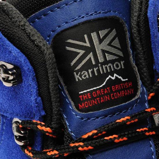 Karrimor Homme Hot Rock Marche Bottes Lacets Imperméable Bouts en Caoutchouc Métallique