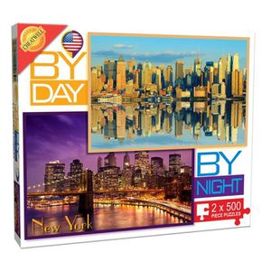 CASSE-TÊTE By Day By Night New York - 2 X 500 Piece Puzzle VA