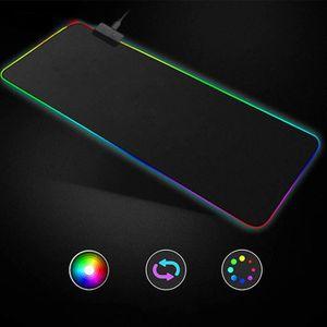 TAPIS DE SOURIS RVB Grand coloré clavier LED d'éclairage tapis de
