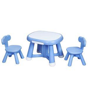 TABLE ET CHAISE Ensemble de 1 Table et 2 Chaises pour Enfant, avec