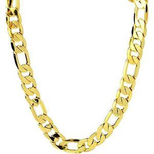 SAUTOIR ET COLLIER Chaîne en or jaune 24 carats Figaro collier pour l
