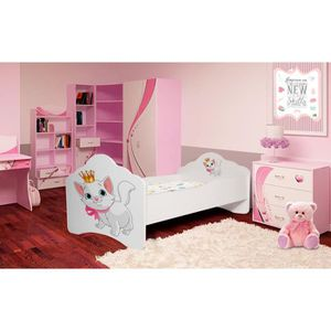 lit enfant fille avec matelas et sommier achat vente. Black Bedroom Furniture Sets. Home Design Ideas