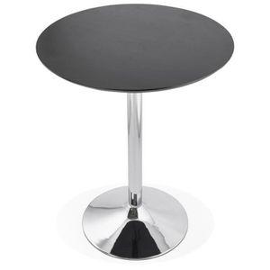 MANGE-DEBOUT MANGE-DEBOUT - TABLE HAUTE 'ATAA' NOIRE - Ø 90 CM