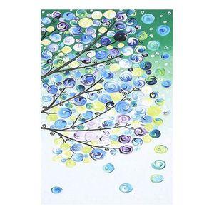 TABLEAU - TOILE 4pcs peinture toile quatre saisons arbre photo mur