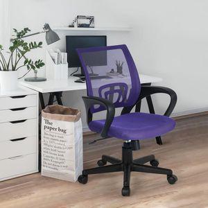 CHAISE DE BUREAU KITE Fauteuil de bureau pivotant - Violet - L 55 x