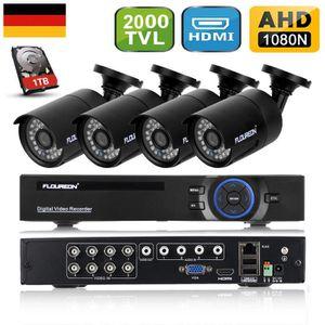 CAMÉRA DE SURVEILLANCE FLOUREON 1x 8CH 1080N AHD HDMI CCTV H.264 DVR + 4x