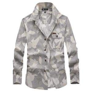 Chemise Militaire en Manches Casual Coton Camouflage Chemise Homme YnUOT7xX