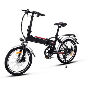 VÉLO ASSISTANCE ÉLEC Vélo électrique pliant 20 pouces, VTT Vélo de mont