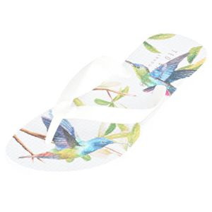 TONG Ted Baker Beaulup Femmes Flip Flop Blanc Multicolo