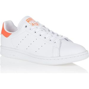 BASKET MULTISPORT ADIDAS Basket Stan Smith Femme - Blanc et orange