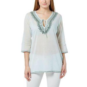 T-shirt femmes Chemisier Top Tunique Paillettes Papillon 44 46 48