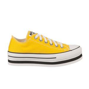 converse jaune pale femme
