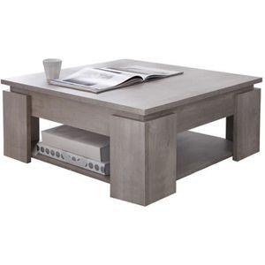 TABLE BASSE Table basse, Coloris chène champagne avec porte...