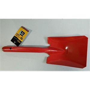 PELLE A NEIGE petite pelle rectangle Rond métal rouge 41cm Coffr