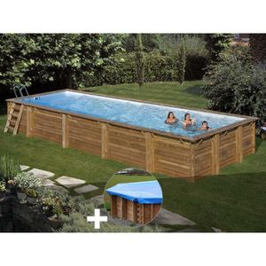 PISCINE Kit piscine bois Sunbay Mint 10,18 x 4,27 x 1,46 m