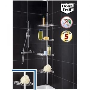 tuyaux etagere de douche telescopique inox. Black Bedroom Furniture Sets. Home Design Ideas