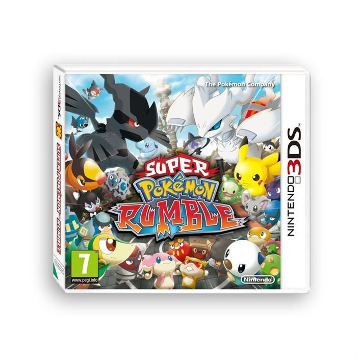 super pokemon rumble 3ds achat vente jeu 3ds super pokemon rumble 3ds cdiscount. Black Bedroom Furniture Sets. Home Design Ideas