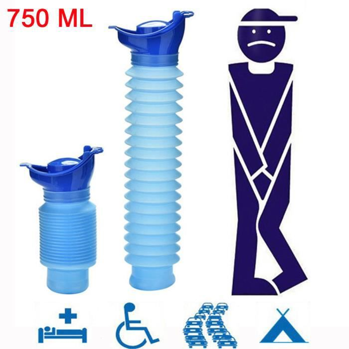 PACK OUTIL A MAIN 750ML adulte Portable Urinoir Voyage Camping Car Uriner Pee toilettes Aide d'urine ZJH81103881_vir