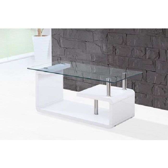 Table Basse Moderne et Design GASPAR Laqué Blanc