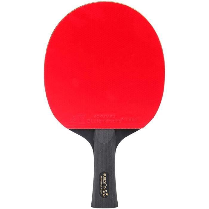 raquette de tennis de table,raquette de ping pong dentraînement professionnelle 5 étoiles avec sac de rangement,bonne sensation de
