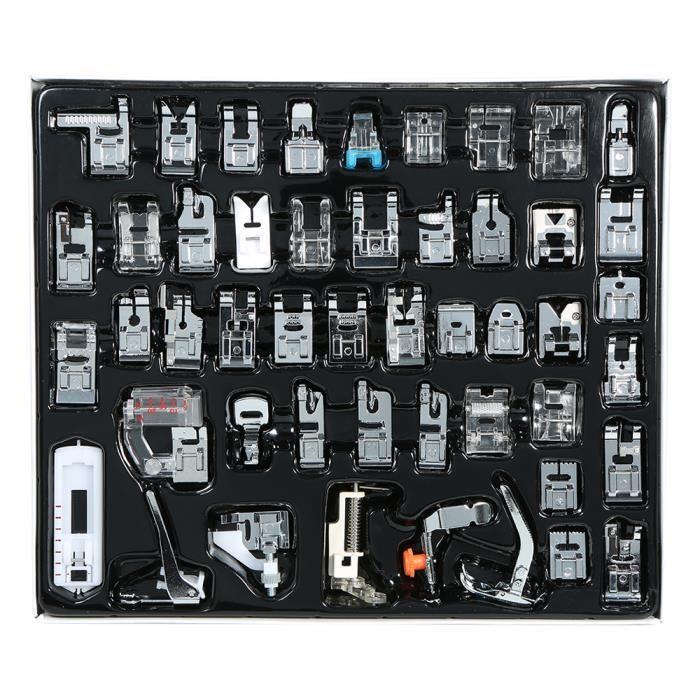 48 pcs Machine À Coudre Professionnel Domestique Pied Presseur Ensemble Hem Pied Pièces de Rechange Accessoires pour Frère Chanteur