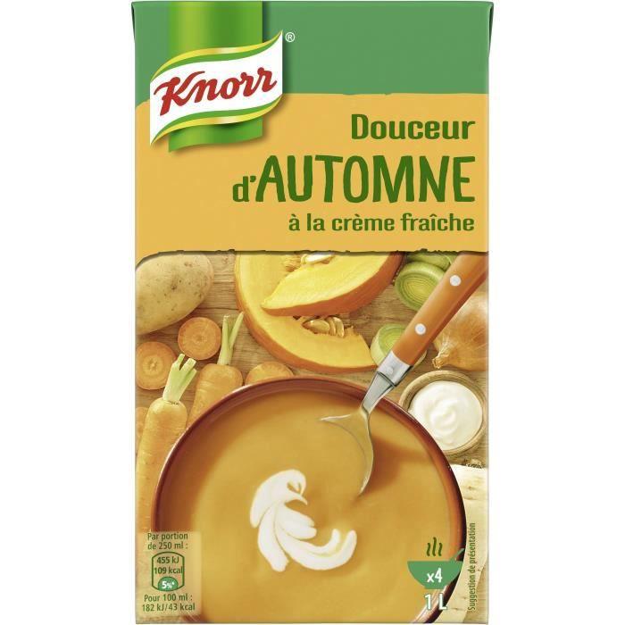 KNORR Les Classiques Soupe Liquide Douceur d'Automne à la crème fraîche - 1 l
